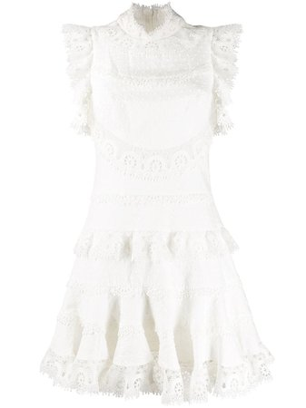 Zimmermann Embroidered Fitted Dress - Farfetch