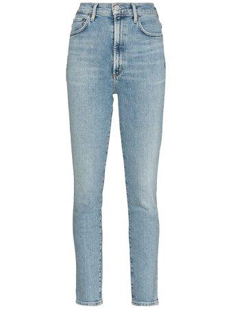 AGOLDE Pinch high-waisted Skinny Jeans - Farfetch