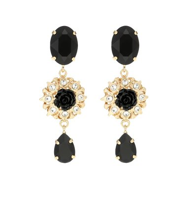 Crystal-Embellished Clip-On Earrings | Dolce & Gabbana - Mytheresa