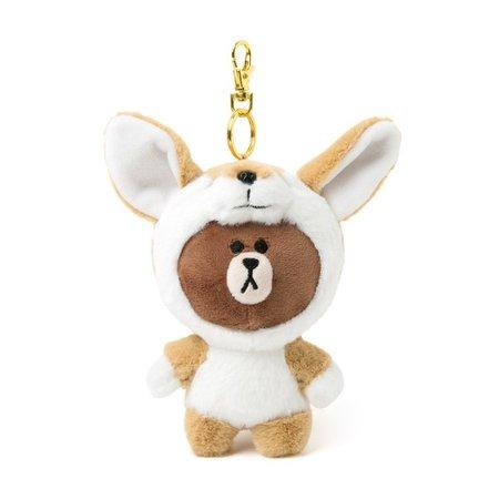 LINE FRIENDS FOX BROWN BAG CHARM (15CM) – Goyangi Korea & Kpop Store