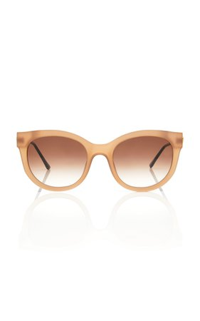 Thierry Lasry Lively 864 Cat-Eye Acetate Gold-Tone Sunglasses