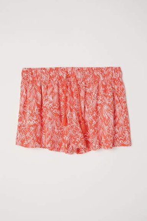 Patterned Shorts - Red