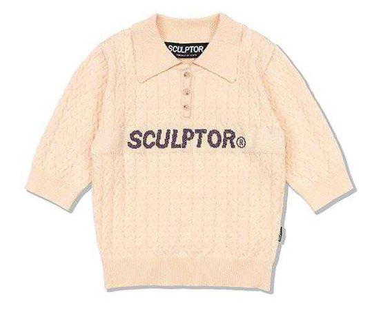 Sculptor - Glitter Small Cable Sweater