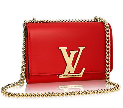 lv clutch bag red