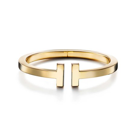 Tiffany T square bracelet in 18k gold, medium. | Tiffany & Co.