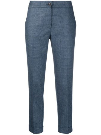 Etro Checked Tailored Trousers - Farfetch
