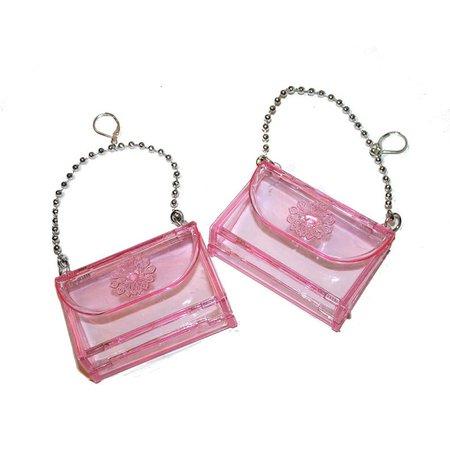 90s Pink Purse Earrings big plastic purse earrings 90s daisy | Etsy