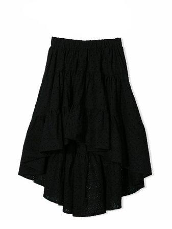 Monnalisa Black Cotton Skirt