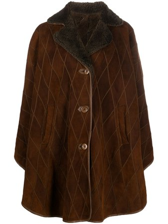 A.N.G.E.L.O. Vintage Cult 1980s Diamond Quilted Buttoned Coat - Farfetch