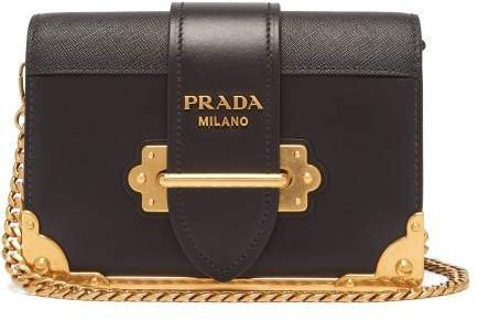 Cahier Leather Cross Body Bag - Womens - Black