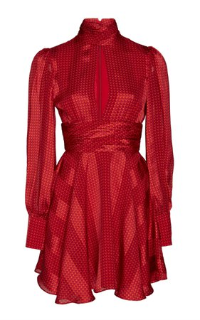 Hadiza High-Necked Printed Silk Mini Dress by Alexis | Moda Operandi
