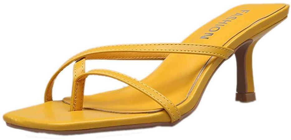 Amazon.com: HTTEM - Sandalias de tacón para mujer: Shoes
