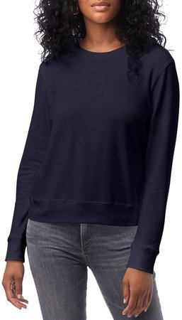 Cotton Blend Interlock Sweatshirt