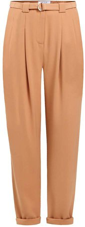PAISIE - Peg Leg Trousers With D-Ring Belt In Tan