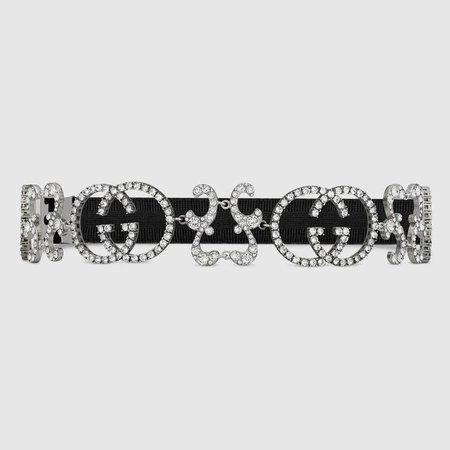 Crystal Interlocking G headband