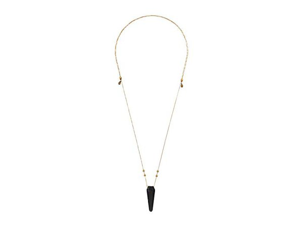 Alex and Ani Moss Agate Pendulum Necklace