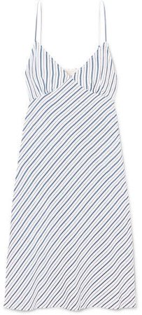 Striped Piqué Dress - Blue