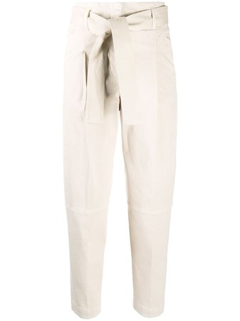 Peserico waist-tied Tapered Trousers