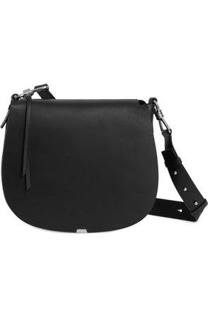 ALLSAINTS Captain Round Leather Shoulder Bag | Nordstrom
