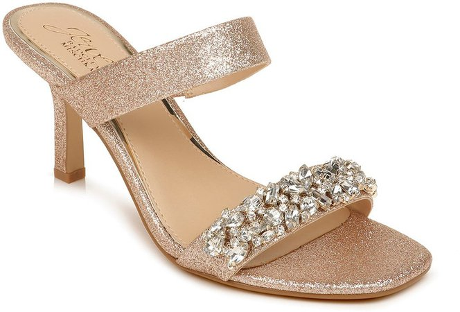 Fabe Crystal Strap Slide Sandal
