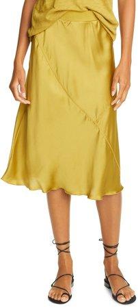 Pull-On Silk Skirt