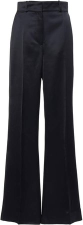 Joseph Toron Satin Wool-Blend Wide-Leg Trousers