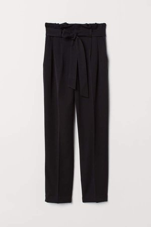 Paper-bag Pants - Black