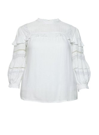 **DP Curve Ivory 3/4 Sleeve Lace Top | Dorothy Perkins