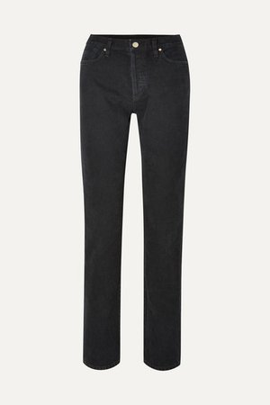 The Relaxed Mid-rise Straight-leg Jeans - Black