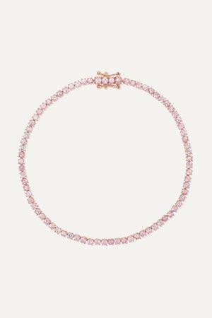Rose gold Hepburn 18-karat rose gold sapphire bracelet | Anita Ko | NET-A-PORTER