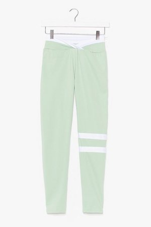 You Were Stripe High-Waisted Workout Leggings | Nasty Gal