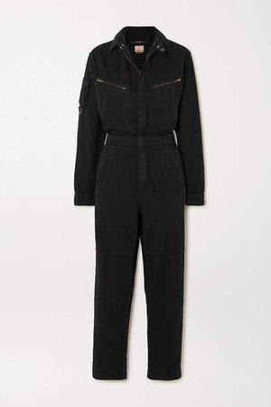 Lucid Cotton-twill Jumpsuit - Black