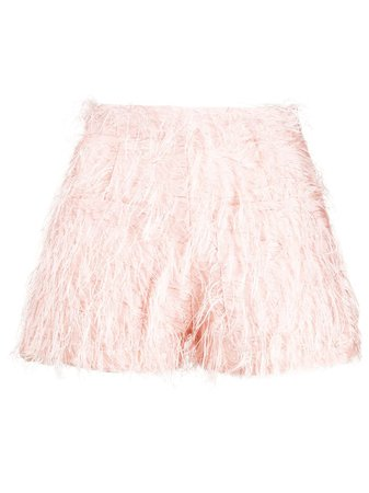 Loulou feather-embellished Shorts - Farfetch