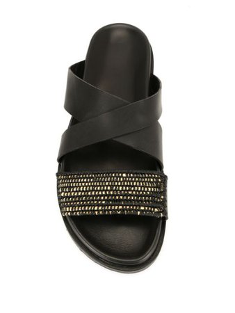 Casablanca1942 Woven Strap Sandals YAKO Black   Farfetch
