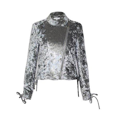 Adore Crushed Velvet Moto Jacket   Muse Boutique Outlet – Muse Outlet