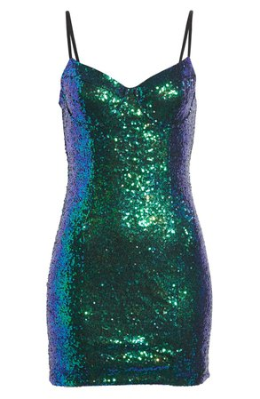 All in Favor Sequin Minidress