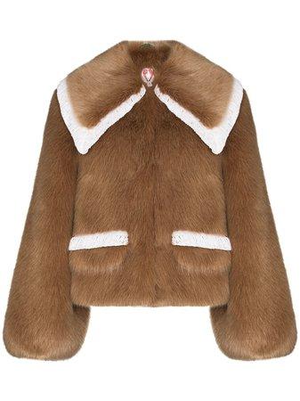 Shrimps Heath faux-fur Short Coat - Farfetch