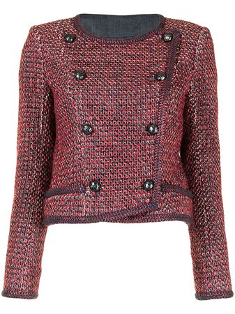 Chanel Pre-Owned Cropped double-breasted Tweed Jacket - Farfetch