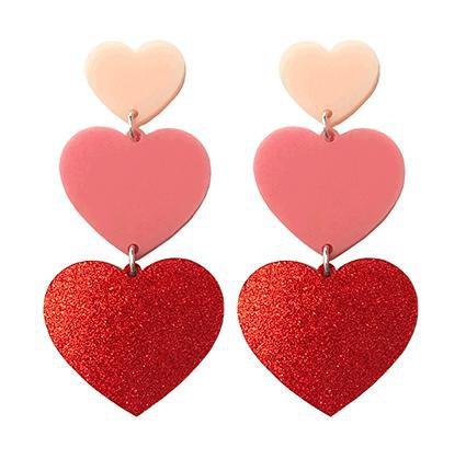 Triple Heart Earrings – yippywhippy