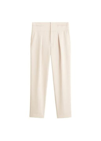 MANGO Straight trousers