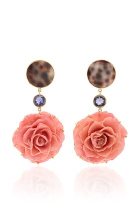 Bahina One of a Kind Real Rose Earrings