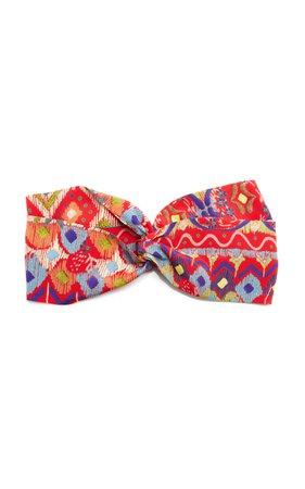 Etro Paisley Printed Ruched Headband