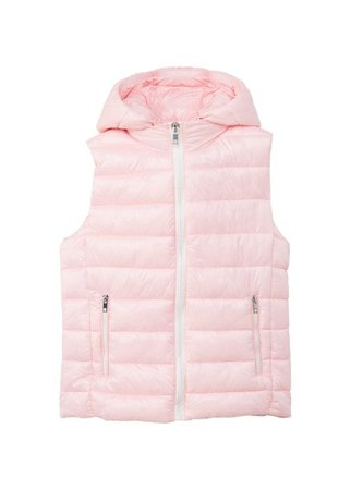 MANGO Detachable hooded gilet
