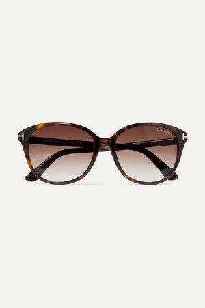 TOM FORD | Cat-eye tortoiseshell acetate sunglasses | NET-A-PORTER.COM