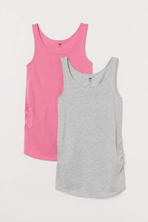 MAMA 2-pack Cotton Tank Tops - Pink