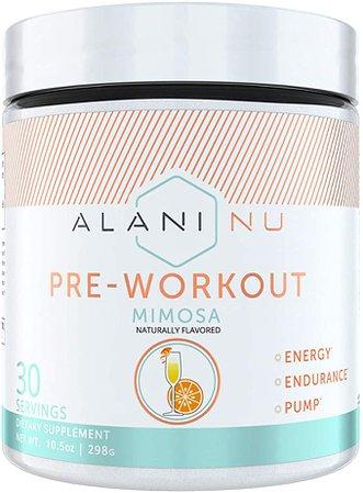 Amazon.com: Alani Nu Pre Workout Energy Powder for Men & Women, Pre-Workout Supplement w/30 Servings, 10.5 OZ, 298 G… (Mimosa): Health & Personal Care