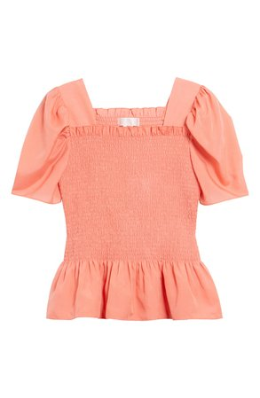 Rachel Parcell Square Neck Smock Top (Nordstrom Exclusive) | Nordstrom