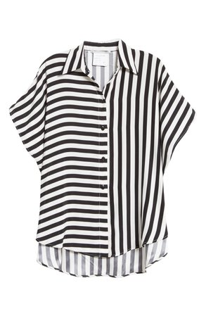 Stella McCartney Stripe Silk Shirt | Nordstrom