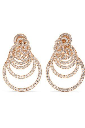 de GRISOGONO   Gypsy 18-karat rose gold diamond earrings   NET-A-PORTER.COM