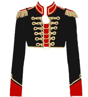 Red, Black & Gold Military Jacket